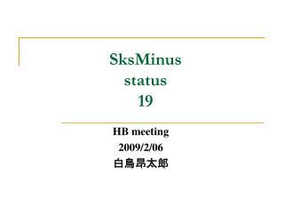 SksMinus status 19