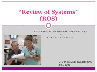 """Review of Systems"" (ROS)"