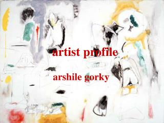 Artist profile