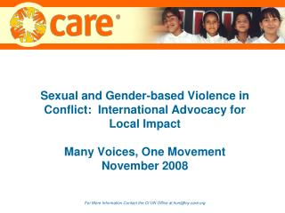 Sexual and Gender-based Violence and War