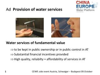 Ad   Provision of  water services