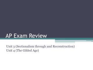 AP Exam Review