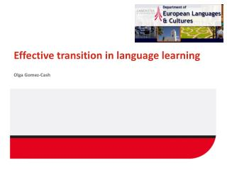 Effective  transition  in language learning