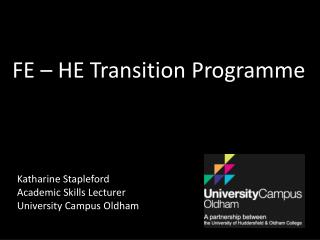 FE – HE Transition Programme