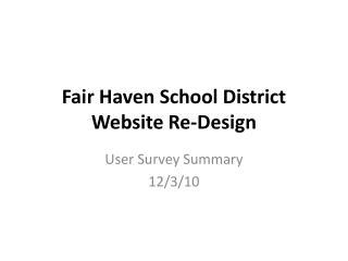 Fair Haven School District Website Re-Design