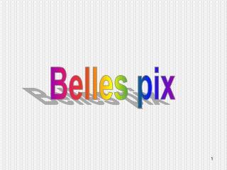 Belles pix