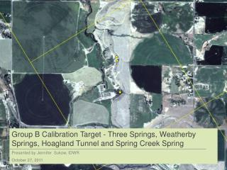 Status of calibration target for Three Springs Cell