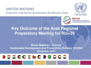 Key Outcome of the Arab Regional Preparatory Meeting for Rio+20