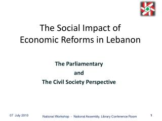 The Social Impact of  Economic Reforms in Lebanon