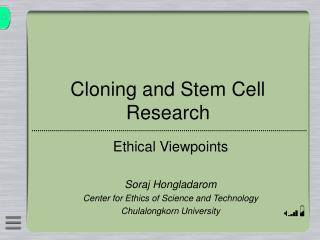 Cloning and Stem Cell Research