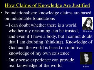 How Claims of Knowledge Are Justified