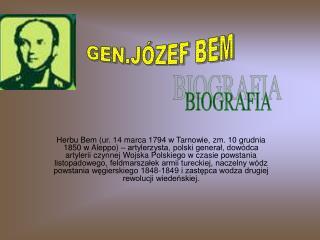 GEN.JÓZEF BEM