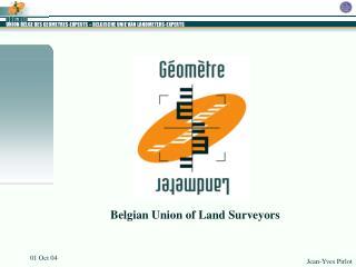 Belgian Union of Land Surveyors