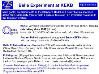 Belle Experiment at KEKB