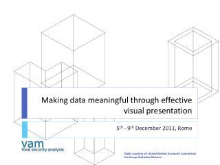 Making data meaningful  through effective visual presentation