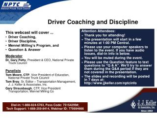 Driver Coaching and Discipline