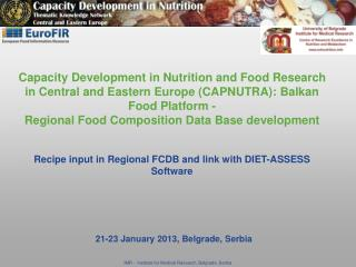 21-23 January 2013, Belgrade, Serbia