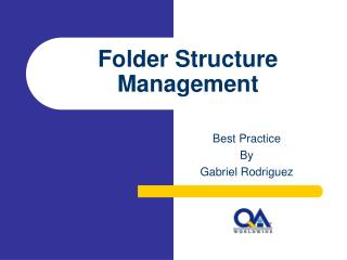Folder Structure Management