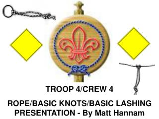 TROOP 4/CREW 4  ROPE/BASIC KNOTS/BASIC LASHING PRESENTATION - By Matt Hannam