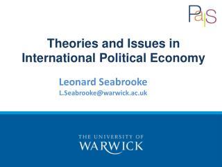 Leonard  Seabrooke L.Seabrooke@warwick.ac.uk