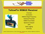 Overview Connection WiMAX Single Frequency Individual Preamble WiMAX Scan Mode Spectrum Analyzer GPS Data Logging Summar