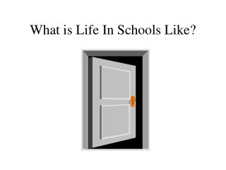 What is Life In Schools Like?