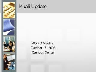Kuali Update