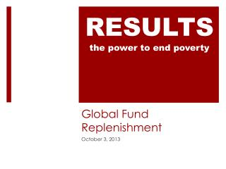 Global Fund Replenishment