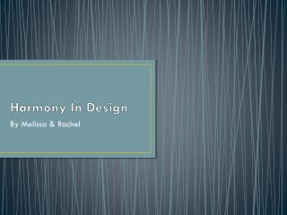 Harmony In Design