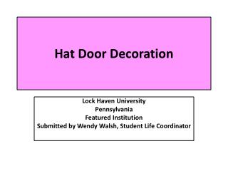 Hat Door Decoration