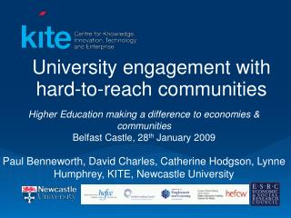University engagement with hard-to-reach communities