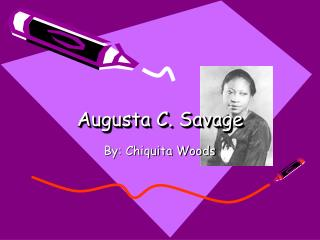 Augusta C. Savage