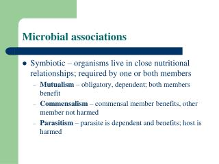 Microbial associations