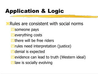 Application & Logic