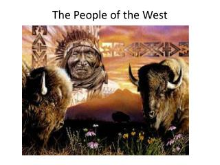 The People of the West