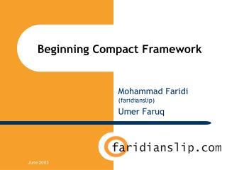 Beginning Compact Framework