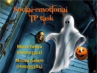 Muna Yahya  (H00203311) Mouza  Salem (H00235384)