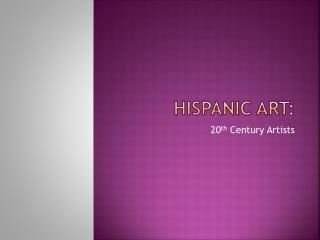 Hispanic Art: