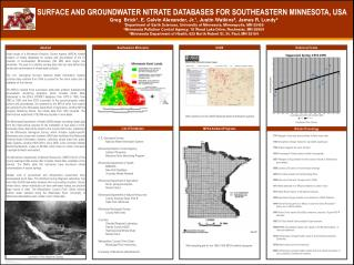 SURFACE AND GROUNDWATER NITRATE DATABASES FOR SOUTHEASTERN MINNESOTA, USA