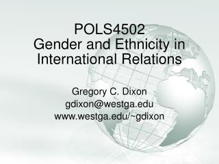 POLS4502 Gender and Ethnicity in International  Relations