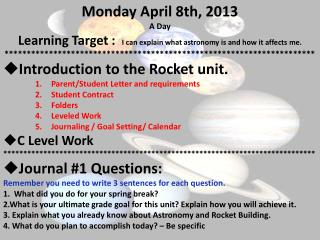 Monday April 8th, 2013 A Day