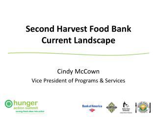 Second Harvest Food Bank Current Landscape