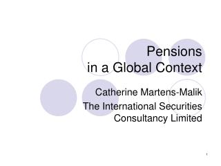 Pensions in a Global Context