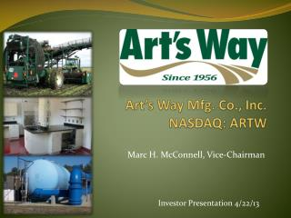 Art's Way Mfg. Co., Inc.  NASDAQ: ARTW