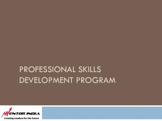 Professional Skills Development Program