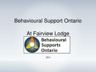 Behavioural Support Ontario At Fairview Lodge