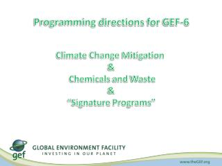 Programming directions for  GEF-6