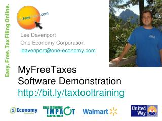 MyFreeTaxes  Software Demonstration bit.ly/taxtooltraining