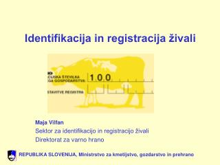 Identifikacija in registracija živali
