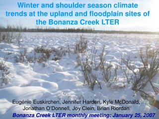 Winter and shoulder season climate trends at the upland and floodplain sites of the Bonanza Creek LTER